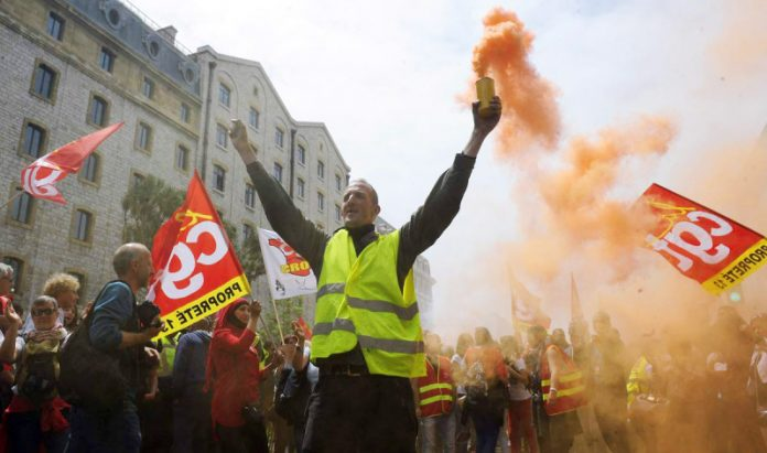 France erupts, with rail strikes every week, Air France strikes, students occupying universities and workers calling for Macron to go