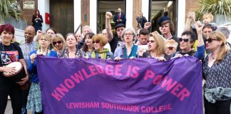 Lewisham Southwark College – one of ten colleges striking against a pay offer of only one per cent