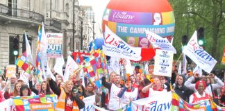 USDAW shopworkers union members made their voices heard