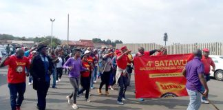 Bus drivers on strike in South Africa's Gauteng province