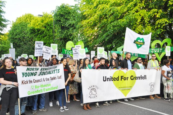 The silent march on May 14th – 11 months after of the Grenfell Tower Inferno