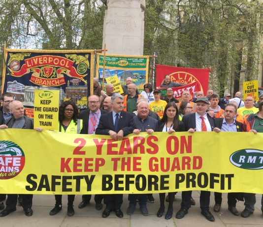 The RMT is in the front rank of the struggle to keep guards on trains and to renationalise the entire rail network