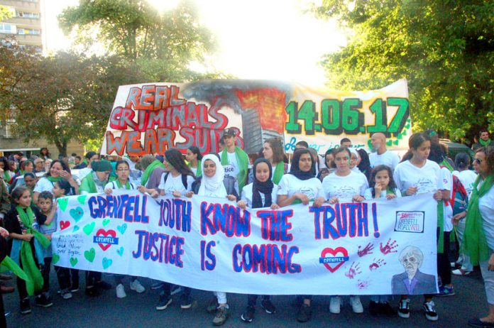 Youth lead off the powerful silent march on Thursday