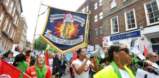Joint FBU-Justice4Grenfell march last Saturday – firefighters have been exonerated by fire experts at the Grenfell Inquiry