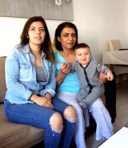 Tangmere House residents CISEM STAINES her mother and young son