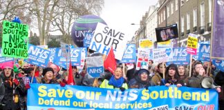 Thousands marched in London last February demanding no cuts in NHS services