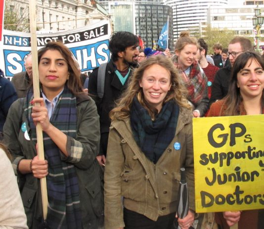 GPs turned out in force to support striking junior doctors during their year-long struggle – GP practices are under attack from Tory NHS cuts