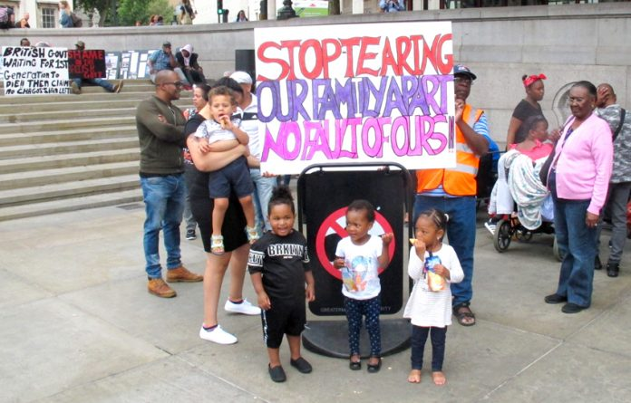 Chagossians from the oldest to the youngest were demonstrating in Trafalgar Square over the weekend