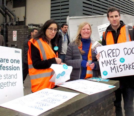 Junior doctors during their recent strike actions insisting that over-tired doctors can make mistakes