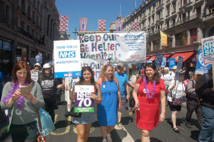 Campaigners from St Helier Hospital in south-west London fighting to stop it from closing