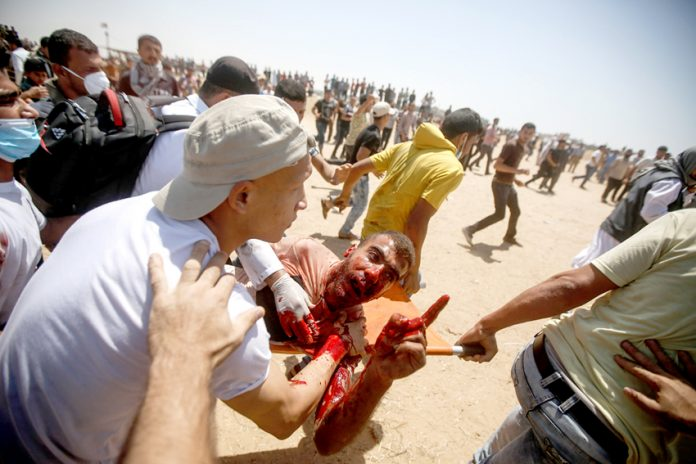 Young Palestinians are suffering terrible injuries at the hands of Israeli troops on the Gaza-Israel border