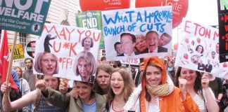 Youth on a march against austerity, benefit cuts and in-work poverty – 800,000 workers are on zero hours contracts