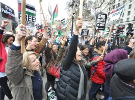 Downing Street demonstration in support of a Palestinian state