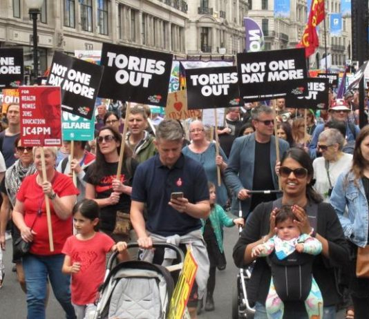 John McDonnell was the moving force behind last July's 'Tories Out!' march on Parliament