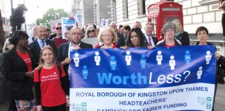 Heads from Kingston, Surrey, are demanding fairer funding