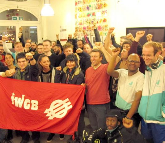 Deliveroo workers at their union meeting – have voted to join the Uber Eats, McDonald's, TGI Friday's and Wetherspoons strike