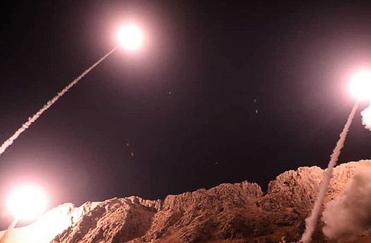 Iranian missiles fired from their base in Kermanshah on Monday at 2.00am hit terrorist bases in Eastern Syria