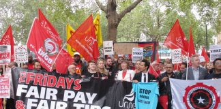 Massive protest strike last Friday by McDonald's TGI Friday's, Uber Eats and Wetherspoon workers made a huge impact on Labour shadow chancellor John McDonnell