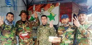 Syrian troops celebrate victory over terrorists in Douma