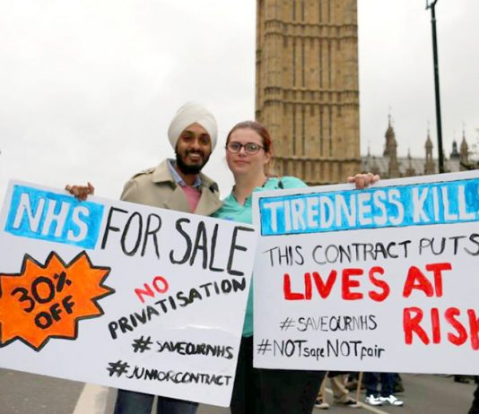 Junior doctors during their dispute warned that the Tories would put the NHS up for sale