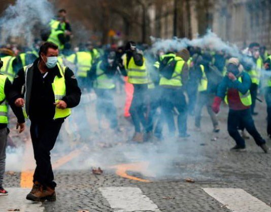 Yellow Vests protesters out in force last week – after winning a victory the biggest ever protest is expected tomorrow