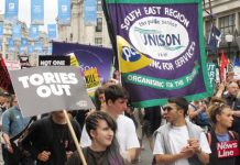 Workers marching on Parliament in July 2017 after Labour shadow chancellor John McDonnell called for the Tories to go