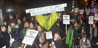 Marchers on the last silent walk on November 14th demanded that those responsible for the Grenfell inferno be held to account