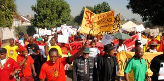 State power supplier, Eskom, workers taking action to defend their jobs