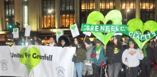 Many young people were on Friday night's 600-strong silent march through the centre of Kensington demanding justice for the victims of the Grenfell inferno