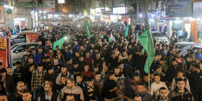 Hamas demonstration in Gaza earlier this year
