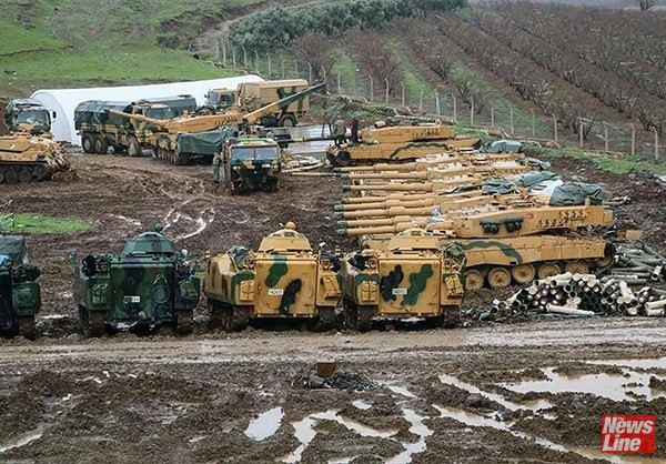 Turkish artillery in Syria – Turkey has been sending military reinforcements into Syria over the past few weeks