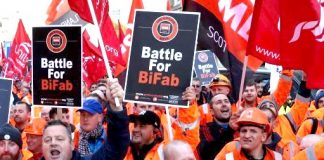 Scottish power workers fighting to stop BiFab from closing – the proposed £16bn nuclear power station in Wales has been shelved