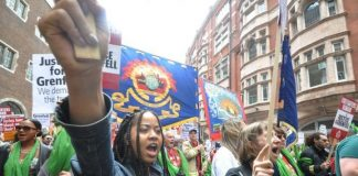 Local residents and FBU members joined forces in a march to demand justice for Grenfell – firefighters are concerned over toxicity