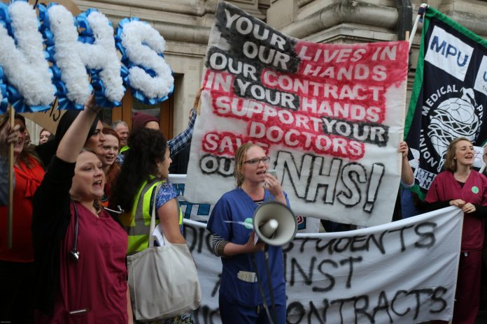 British junior doctors demonstrating