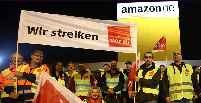 Amazon workers in Germany started their two-day strike on Sunday night