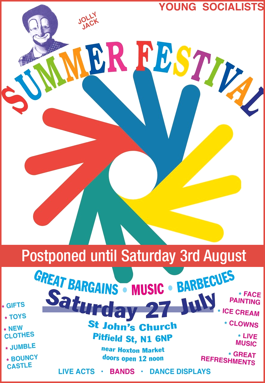 Young Socialists Summer Festival 2019 - Postponed to Aug 3
