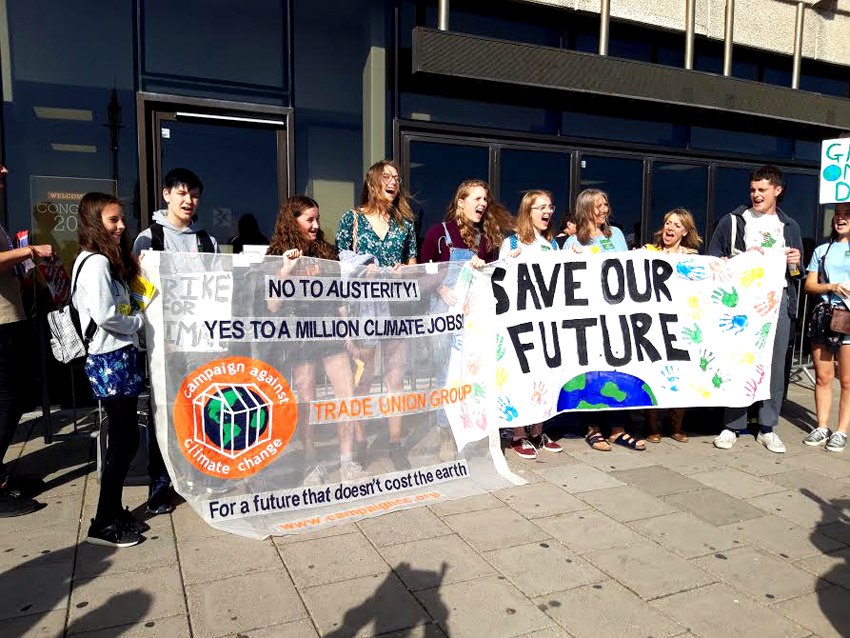 British young people lobbying the TUC won support for their strike for climate change justice