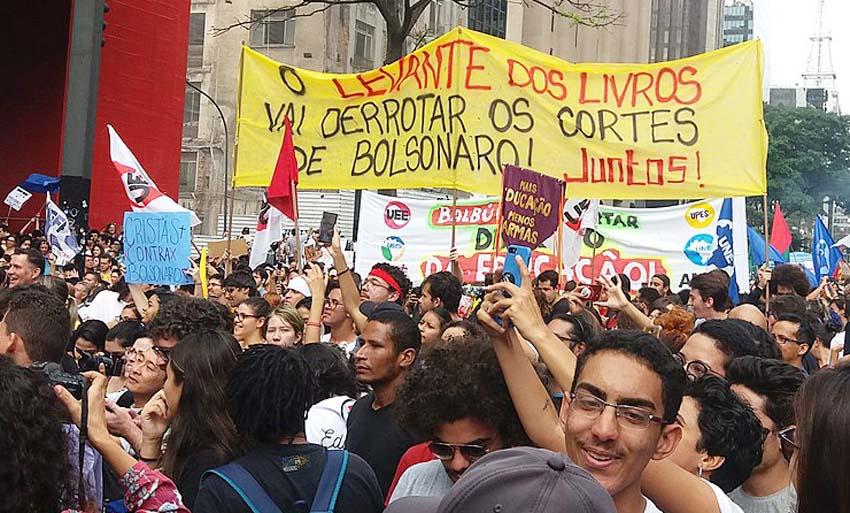 Demonstration against Brazilian President Bolsonaro